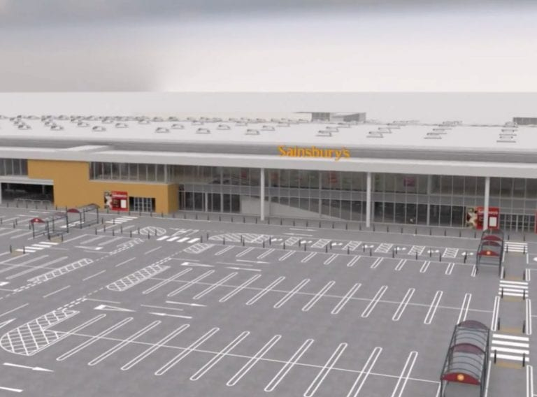 3D walkthrough animation of Sainsbury's store