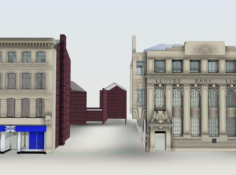 Architectural survey & 3D model Gentleman's Walk Norwich