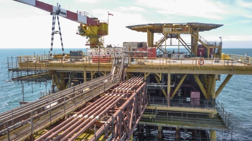 Shell UK oil platform