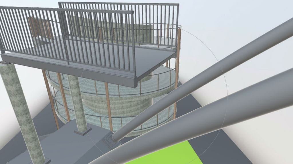 3D model of footbridge