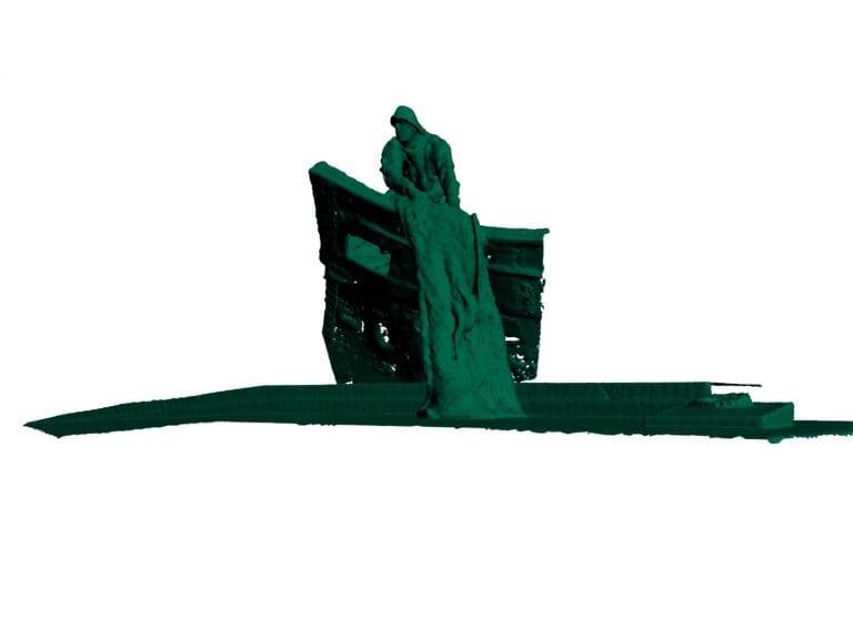 Laser scan and 3D Revit® model of memorial statue