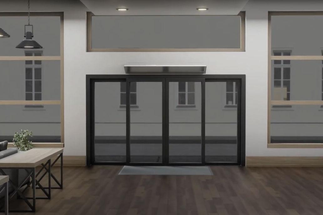Berner air curtain 3D visual
