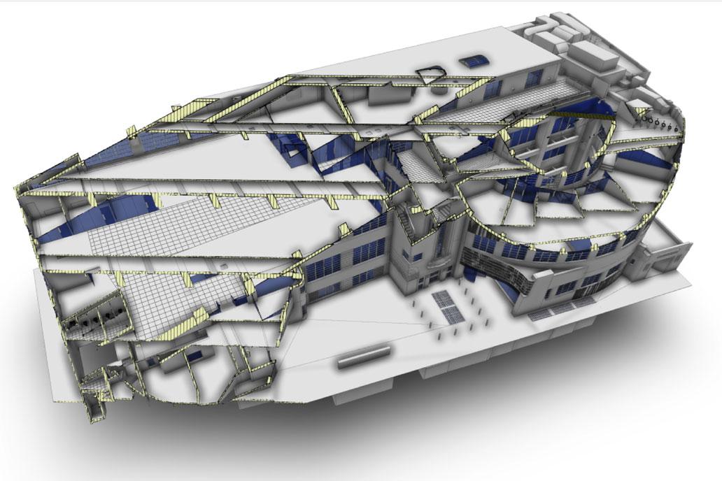 3D model of Art Deco grade II Daimler HQ