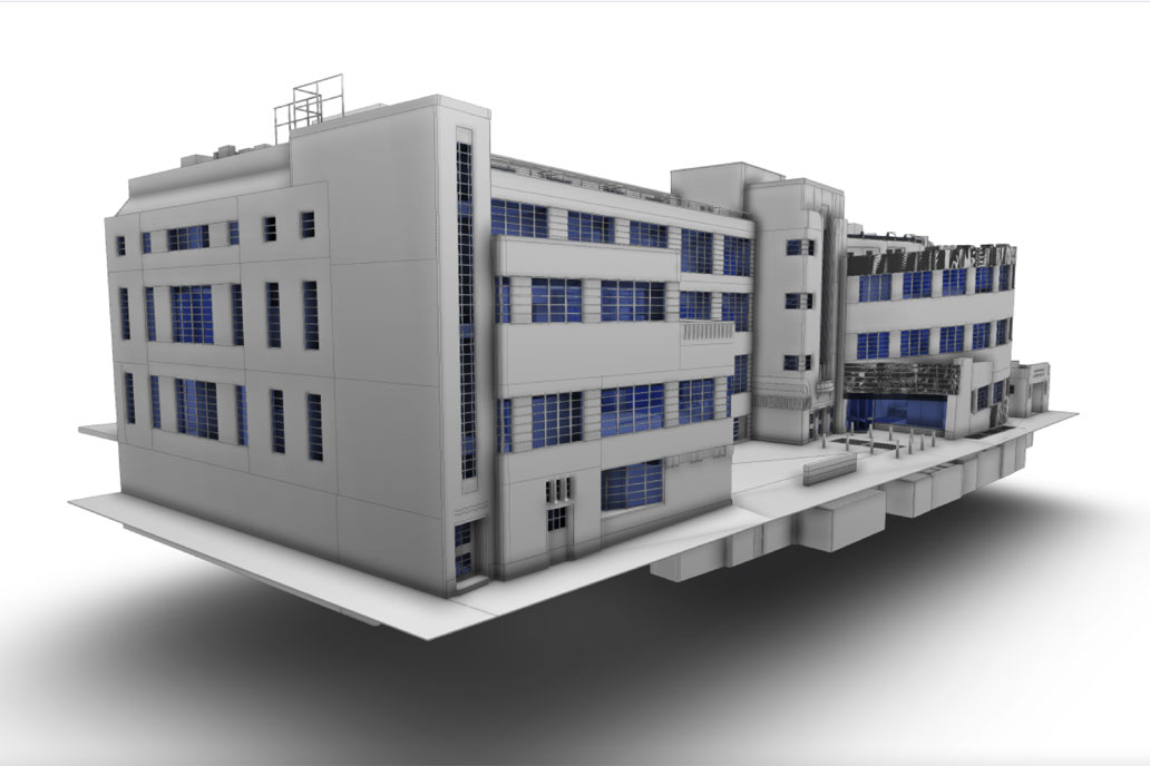 Revit model of Art Deco grade II Daimler HQ