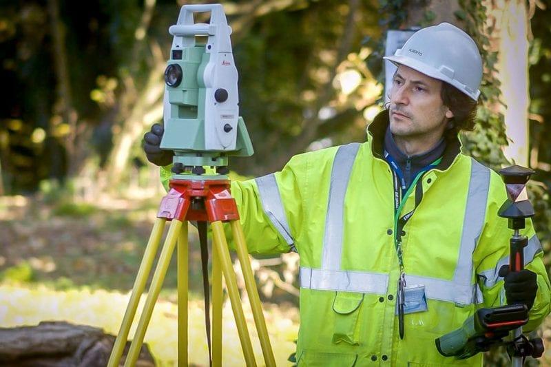 Expert professional surveyors completing complex building surveys