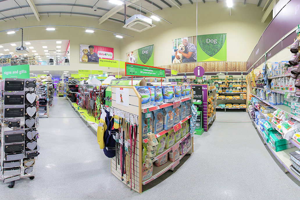 Pets at Home StoreView used to validate store selection
