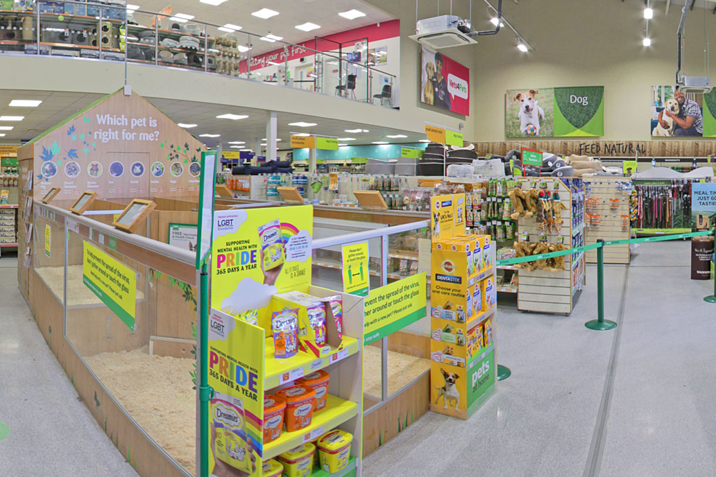 Pets at Home validate store selection using StoreView